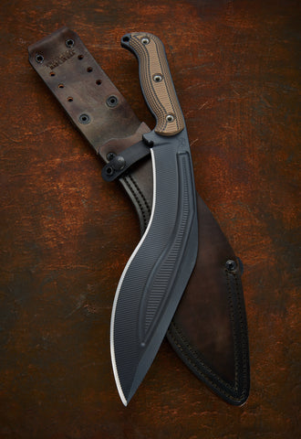 RMJ Tactical Kukri with Upgraded Leather Sheath - Free Shipping