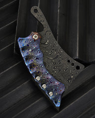 Sergey Rogovets Damascus and MokuTi Cleaver - Free Shipping