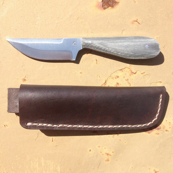 JK Handmade Knives Urban Backup w/ leather - Free Shipping