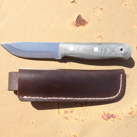 JK Handmade Knives Model 5 w/ leather - Free Shipping