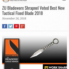 ZU Bladeworx Shrapnel Type 2 (Tanto) - Only 1 available