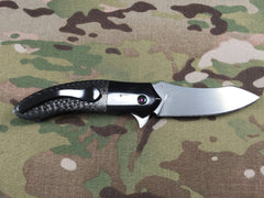 Peter Martin Zirconium and Carbon Fiber flipper- Free Shipping
