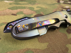 Red Horse Knives Full Titanium and Timascus Chopper - Free Shipping