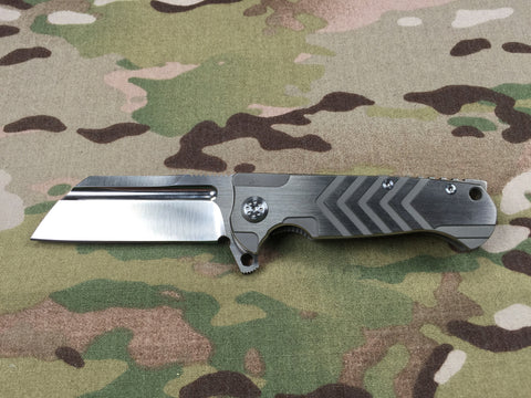 Andre De Villiers MINI Midtech Butcher Gen 2 Silver with grip pattern - Free Shipping