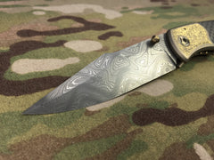 Steven Kelly Boomerang Stainless Damascus Lightspeed - Free Shipping