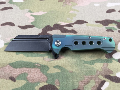 Andre De Villiers MINI Midtech Butcher Gen 2 Black & Green with holes - Free Shipping