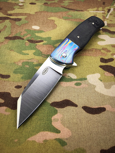 Tobin Bladesmith Timascus Wharncliffe Flipper - Free Shipping
