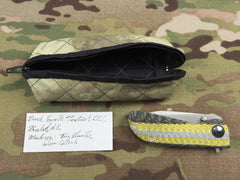 Dark Earth Tactical Carbon Fiber, Hematite & Zirconium Hundo UltraLight flipper - Free Shipping