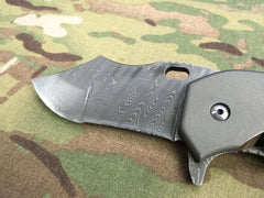 Red Horse Knives Full Titanium War Pig with Damascus and Timascus - Free Shipping