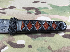 Sam Eddleman Feather Damascus AP Tanto - Free Shipping