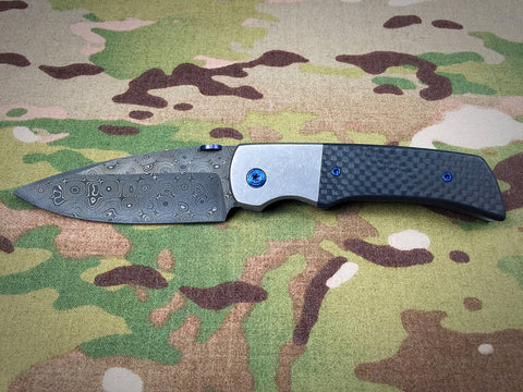 Steven Kelly Gulo Bolster Lock with Chad Nichols Stainless Damascus  - Free Shipping