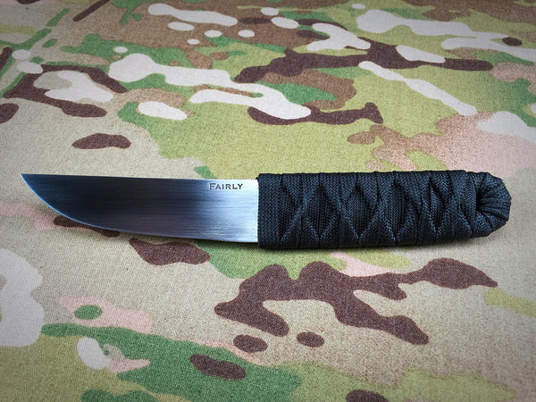 Daniel Fairly Tsuka Maki black on black cord wrap Kwaiken - Free Shipping