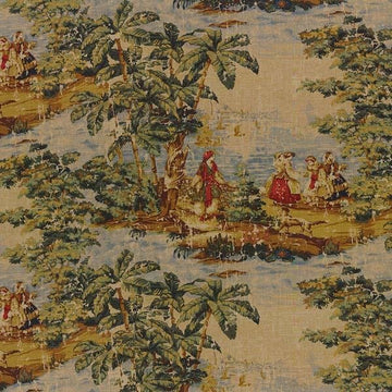 Covington Bosporus Billard 128 Toile Linen Fabric - Fabric Headquarters