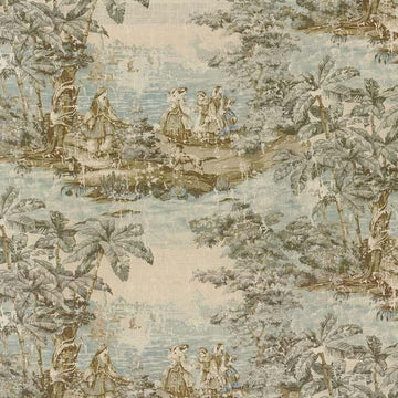 Covington Bosporus Flax 197 Toile Linen Fabric - Fabric Headquarters