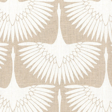 Genevieve Gorder Flock Circa Chalk Linen Fabric - Fabric Headquarters