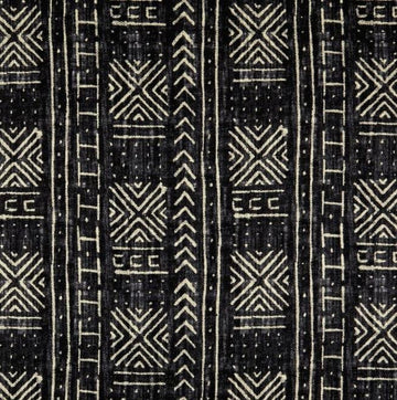 Genevieve Gorder Mali Mud Cloth Linen Inked Black Fabric - Fabric Headquarters