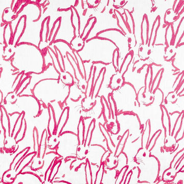Hunt Slonem Groundworks Hutch Print Hot Pink Fabric - Fabric Headquarters