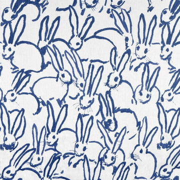 Hunt Slonem Groundworks Hutch Print Navy Fabric - Fabric Headquarters