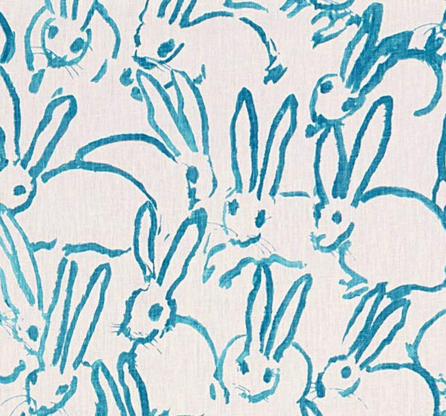 Hunt Slonem Groundworks Hutch Print Turquoise Fabric - Fabric Headquarters