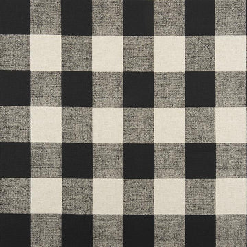 Premier Prints Anderson Black Linen Buffalo Check Fabric - Fabric Headquarters