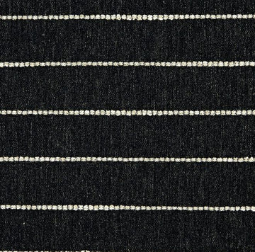 Richloom Evie Jacquard Onyx Woven Stripe Fabric - Fabric Headquarters