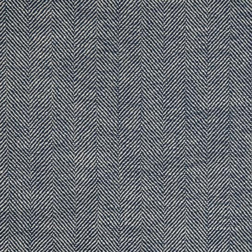 Richloom Olan Pacific Blue Herringbone Yarn Dyed Woven Fabric - Fabric Headquarters