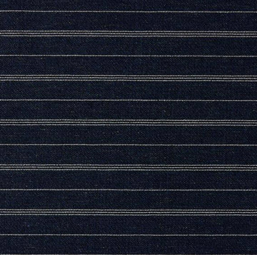 Richloom Truxton Denim Blue Woven Stripe Fabric - Fabric Headquarters