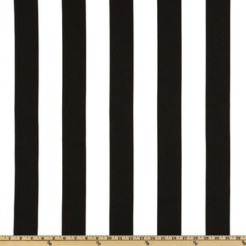 Swavelle Mill Creek Finnigan Tuxedo Balck Stripe Outdoor Fabric - Fabric Headquarters