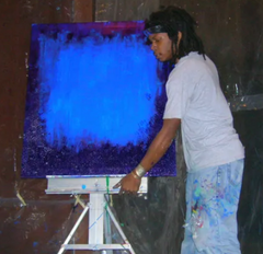 drewkidd painting at an event