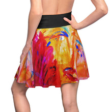 Load image into Gallery viewer, dk Abstraction Introspection Skater Skirt