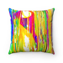 Load image into Gallery viewer, dk Summer Rain Faux Suede Square Pillow