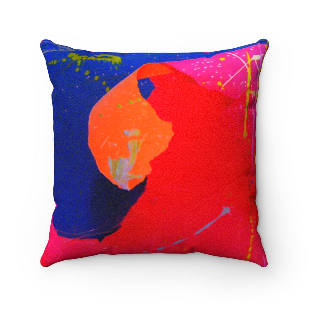dk Vertical Pool: The Queen City at Sunset Faux Suede Square Pillow
