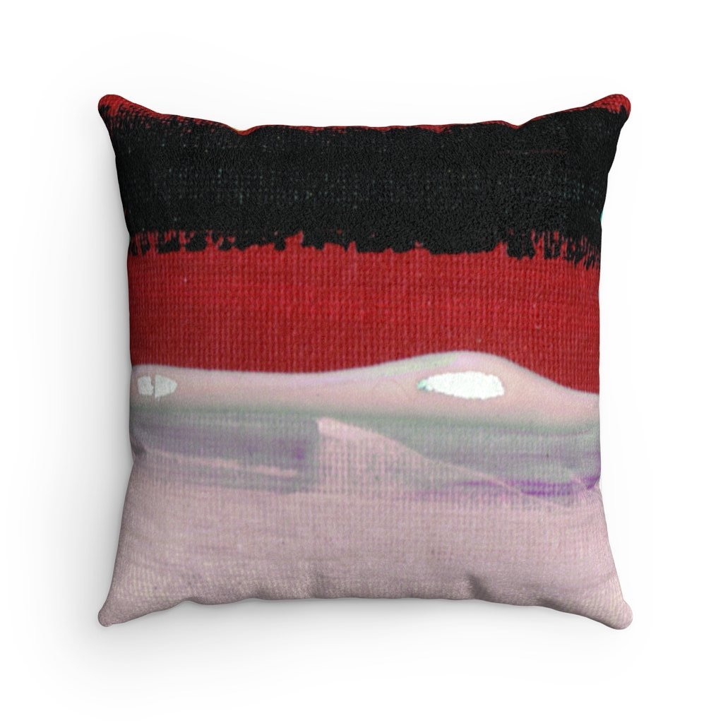 SEASIDE Faux Suede Square Pillow