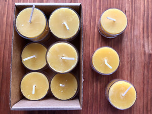 Beeswax Tealight, 12-pack