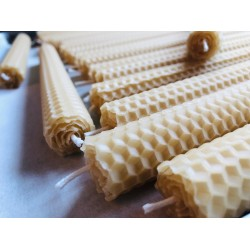 8.5 Inch Beeswax Foundation Tapers (2)