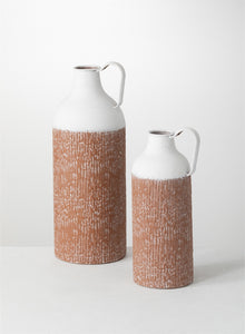 TC SPECKLED METAL VASE
