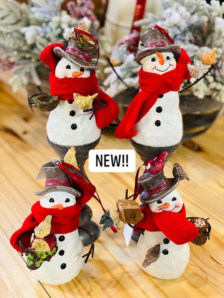 Snowman Ornament, 4 assort.