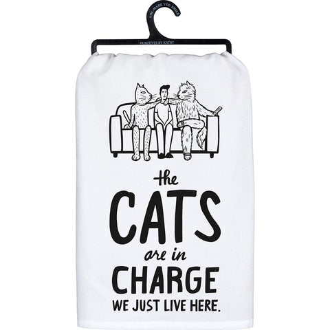 Dish Towel - The Cats Are In Charge