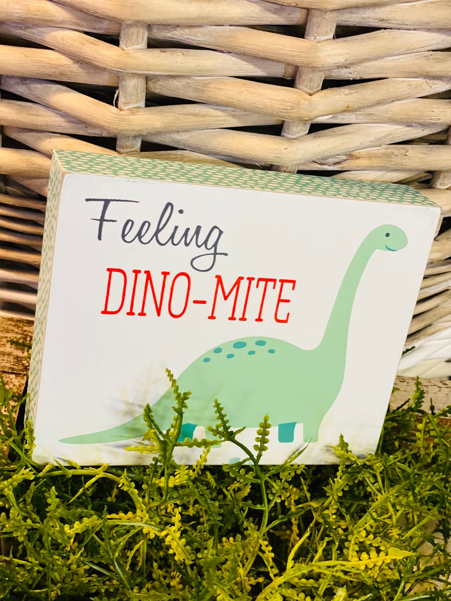 Block Sign - Feeling Dinomite