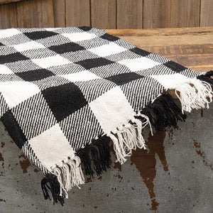 Black & White Buffalo Check Long Runner