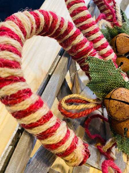 "14"" JUTE CANDY CANE"