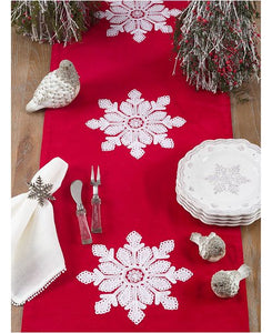 RED VELVET SNOWFLAKE RUNNER