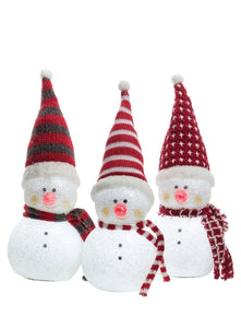 LIGHT UP SNOWMEN SET/3