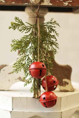 "14"" Jingle Bell Pine Mini Swag"