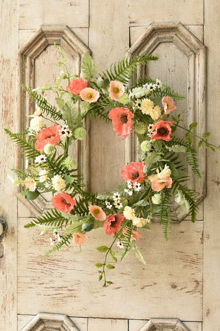 Summer Sorbet Poppy Wreath | 24""
