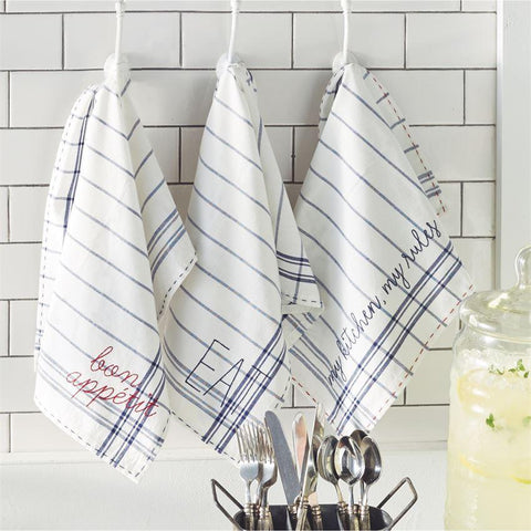 Bistro Embroidered Cotton Hand Towel