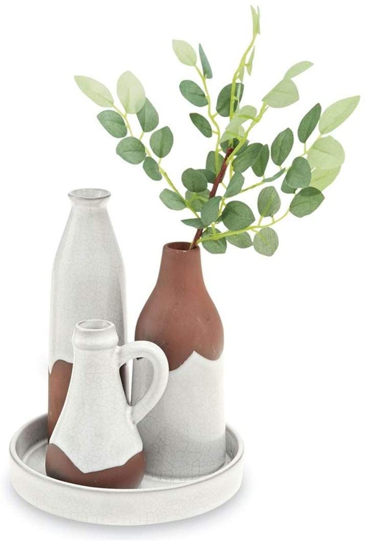 TERRA COTTA BOTTLE VASE SET