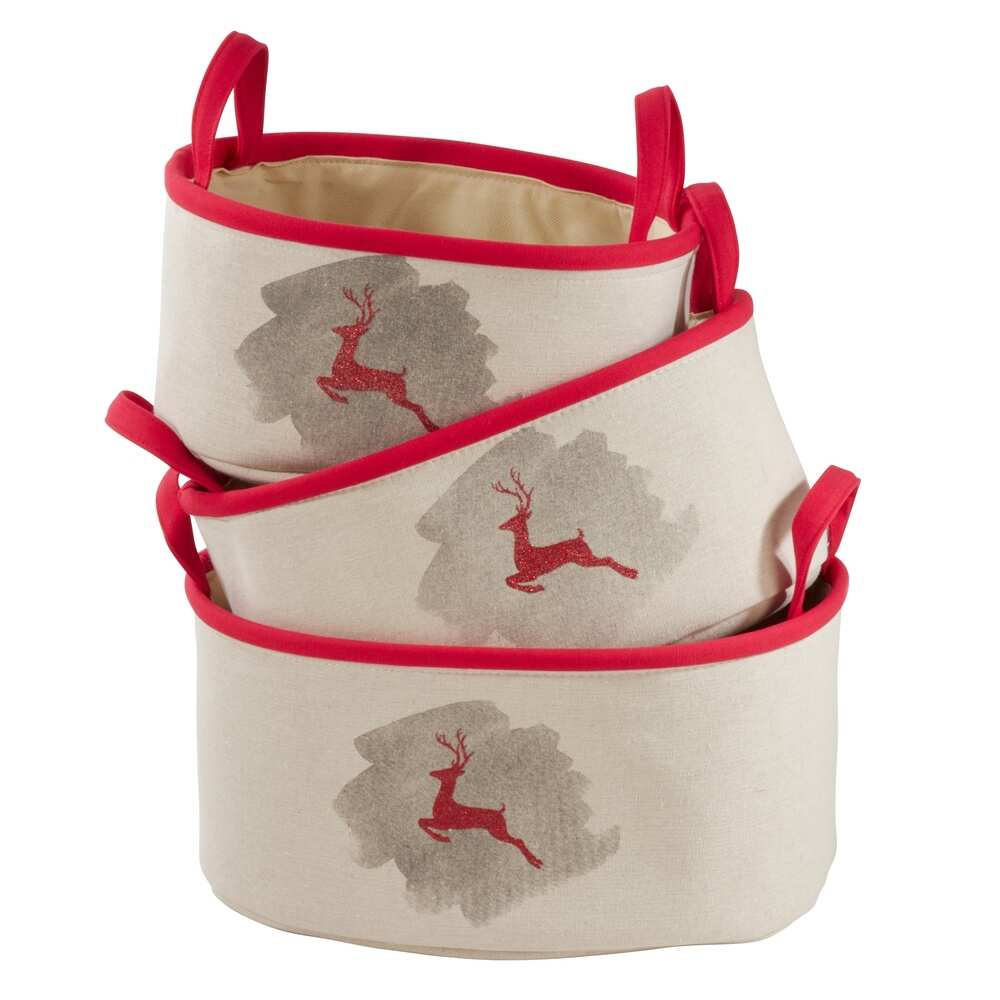 Reindeer Design Storage Baskets