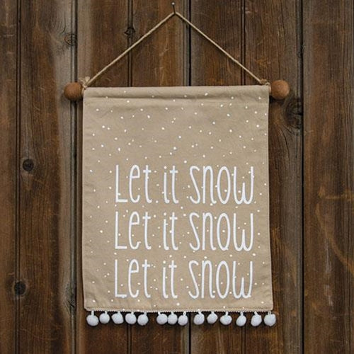 LET IT SNOW POM POM BANNER