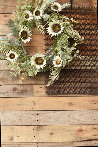 Sunwashed Succulent Wreath | 24""